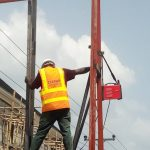 Zeepad construction team constructing a billboard in lagos nigeria 3