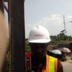 Zeepad construction team constructing a billboard in lagos nigeria 2