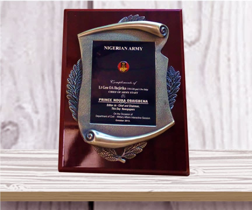 Award Plaques Nigeria