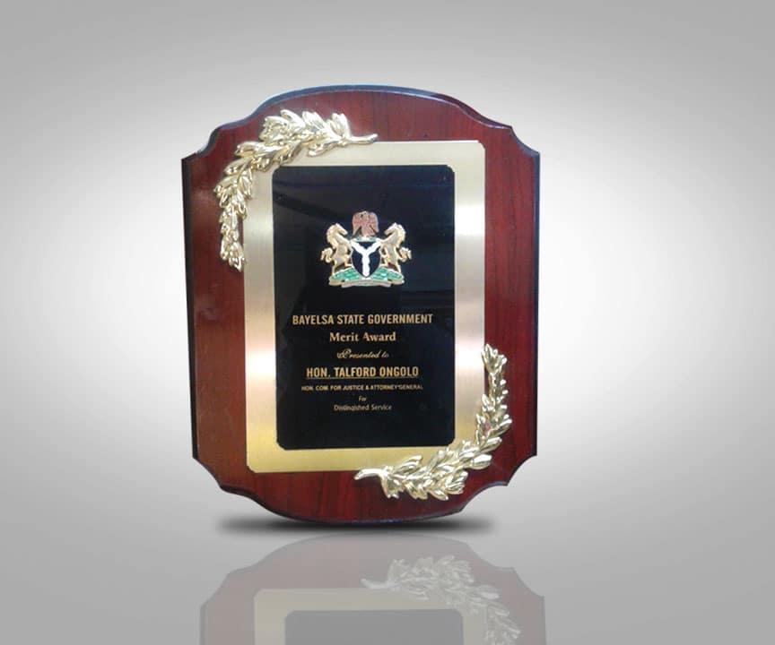 Award Plaque Winner